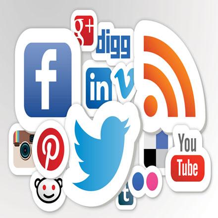 Creazione pagine facebook, twitter, instagram, pinterest, google+.